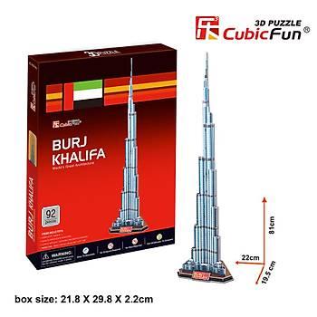 Cubic Fun 3D 92 Parça Puzzle Burç Halife Binasý - Dubai