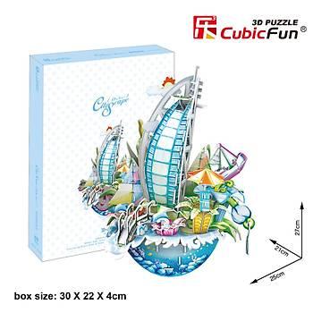 Cubic Fun 3D 57 Parça Puzzle Dubai Þehir Kompozisyonu
