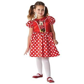 Minnie Kýrmýzý Klasik Çocuk Kostüm 5-6 Yaþ