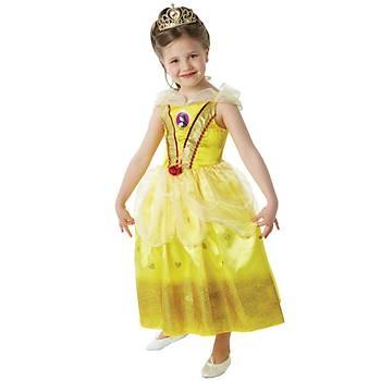 Prenses Belle Çocuk Kostüm 5-6 Yaþ Glitter
