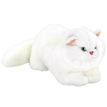 Animals Of The World Yatan Beyaz Kedi Peluþ Oyuncak 34 cm