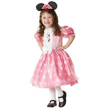 Minnie Mouse Pembe Lüks Çocuk Kostüm 5-6 Yaþ