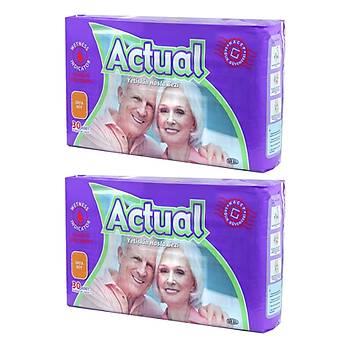 Actual Yetiþkin Hasta Bezi Medium 60 Adet 2 Paket