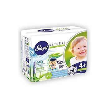 Sleepy Natural 4+ Numara Maxi Plus 26 Adet Külot Bez