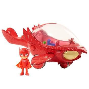 PJ Maskeliler Owlette Delüks Figür ve Araç Set