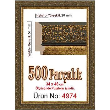 Heidi 500 Parçalýk Puzzle Çerçevesi 48x34 cm 4974