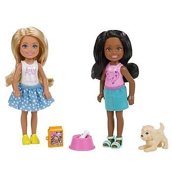 Barbie Club Chelsea Ve Arkadaþlarý 2'li Bebek Oyun Seti FHK97