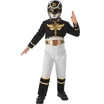 Power Rangers Siyah Çocuk Kostümü  7-8 Yaþ