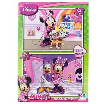 Ks Puzzle Minnie Mouse Çocuk Puzzle 2 in 1