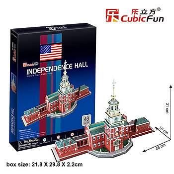 Cubic Fun 3D 43 Parça Puzzle Independence Hall Baðýmsýzlýk Salonu