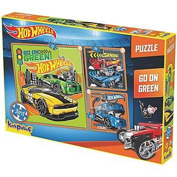 Kýrkpapuç Hot Wheels Go On Green Çocuk Puzzle