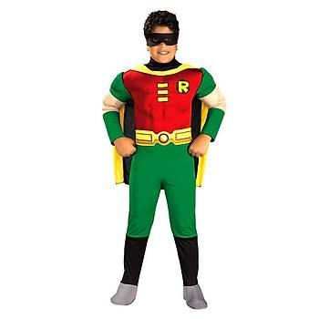 Teen Titan Robin Kostüm Lüks 12-14 Yaþ