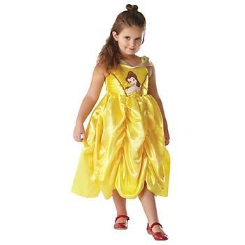 Prenses Belle Klasik Golden Çocuk Kostüm 3-4 Yaþ
