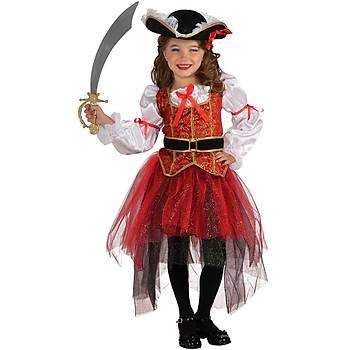 Prenses Korsan Kýz Çocuk Kostümü Lüks 4-6 Yaþ