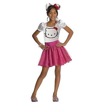 Hello Kitty Çocuk Kostüm Lüks 3-4 Yaþ