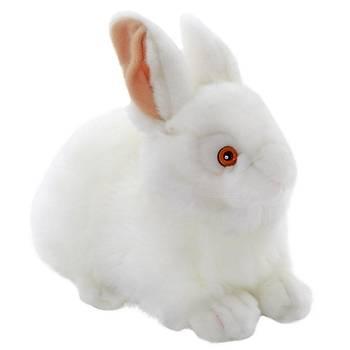 Animals Of The World Beyaz Tavþan Peluþ Oyuncak 23 cm