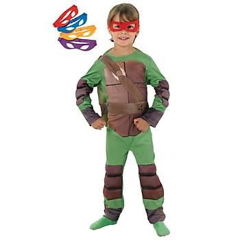 Rubies Ninja Kaplumbaðalar Kostüm Lüks 3-4 Yaþ
