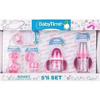 Baby Time Bebek Hediye Seti 5 li - Pembe