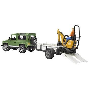 Bruder Land Rover Arazi Aracý Ve Jcb Mini Kazýcý