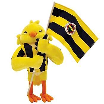 Fenerbahçe Lisanslý Bayrakli Kanarya Peluþ Oyuncak 35 cm