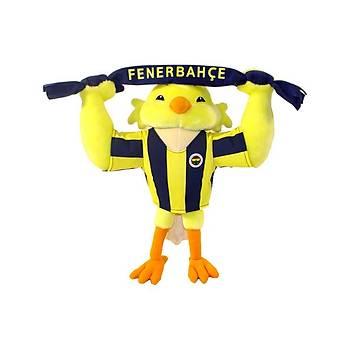 Fenerbahçe Lisanslý Atkili Kanarya Peluþ Oyuncak 35 cm