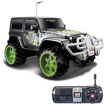 Maisto Tech 1:16 Off-Road Jeep Wrangler Rubicon U/K Araba Siyah