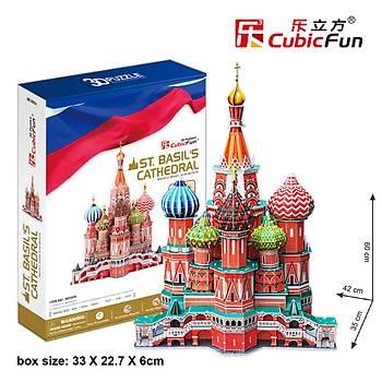 Cubic Fun 3D 173 Parça Puzzle St.Aziz Vasil Katedrali - Rusya