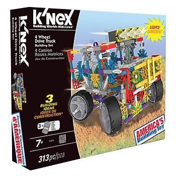 K'Nex 4 Çeker Kamyon (Motorlu) Building Set Knex 11414