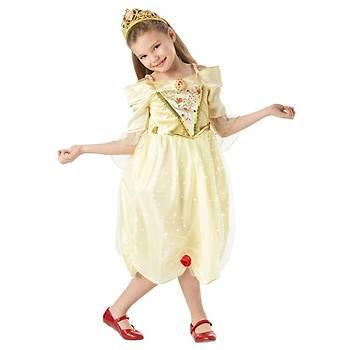 Prenses Belle Çocuk Kostüm Sparkle 5-6 Yaþ