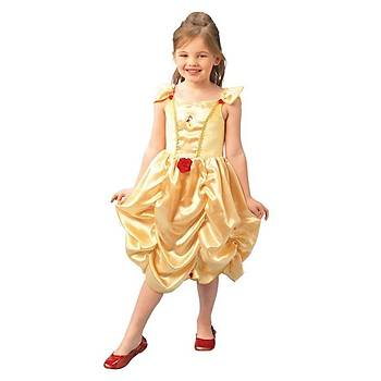Prenses Belle Çocuk Kostüm Klasik 3-4 Yaþ