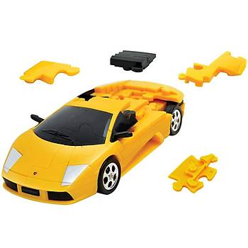 Eureka 3D Araba Puzzle Lamborghini Murcielago Sari