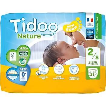 Tidoo Antialerjik-Ekolojik Bebek Bezi No:2 Mini Single 3-6 Kg 31 Adet