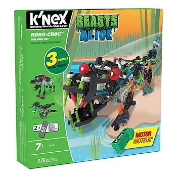 K'Nex Robo-Croc Yapým Seti (Motorlu) Beasts Alive Knex 34407