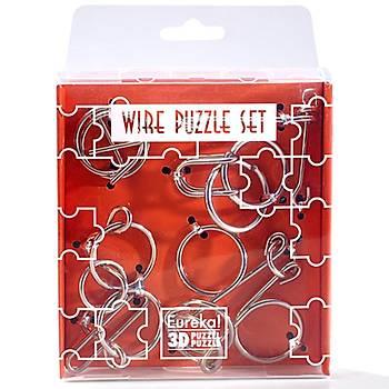 Eureka Wire Puzzle Set-Orange 3D Puzzle