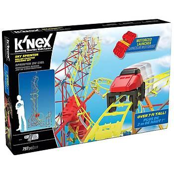 K'Nex Sky Sprinter Roller Coaster Seti (Motorlu) Thrill Rides Kne