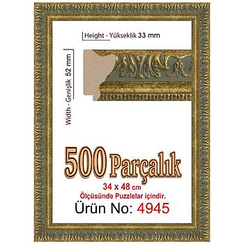 Heidi 500 Parçalýk Puzzle Çerçevesi 48x34 cm 4945