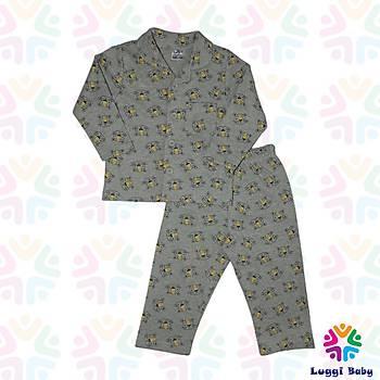 Luggi Baby Kedi Empirme Pijama Takým