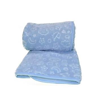 Özdilek Mavi Embos Battaniye