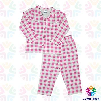 Luggi Baby Ekose Fuþya Pijama Takým