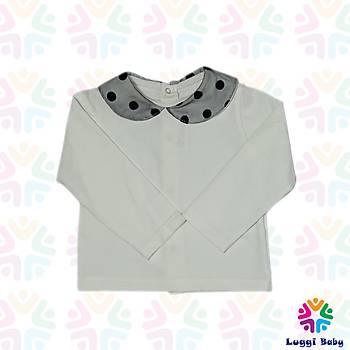 Kýz Bebek Elbise Bluz Lacivert