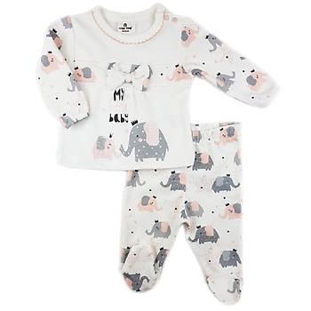 Luggi Baby Elephant Organik Patikli Pijama Takýmý