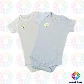 Luggi Baby 2'li Jakarlý Kýsa Kol Body