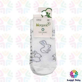 Organik Bebek Çorap 2'li Çorap