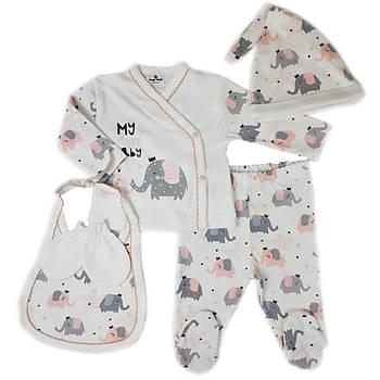 Luggi Baby Elephant Organik 5li Hastane Çýkýþý