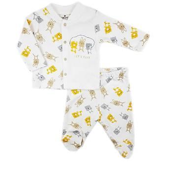 Luggi Baby Lets Play Organik Patikli Pijama Takýmý