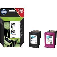 HP N9J72AE BK/CMY Mürekkep K. 2'li PAKET (301)