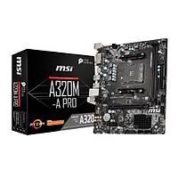 MSI A320M-A Pro AM4 Ryzen DDR4 Dvi Hdmi