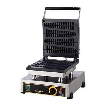 Silver Çubukta Waffle Makinesi Elektrikli