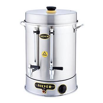 Silver Çevirmeli Çay Makinesi 80 Bardak Kapasiteli 9 L