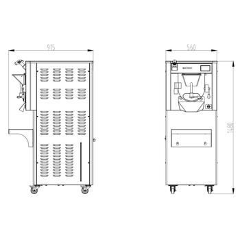 VOSCO Sert Dondurma Makinesi VSC-40 Master